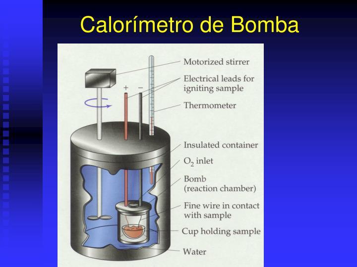 Calorímetro de Bomba