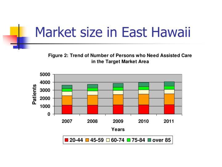 Market size in East Hawaii