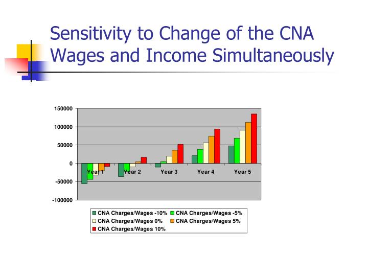 Sensitivity to Change of the CNA Wages and Income Simultaneously