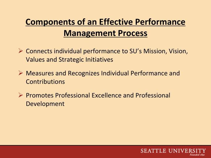 Components of an Effective Performance Management Process