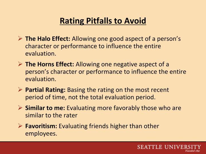 Rating Pitfalls to Avoid