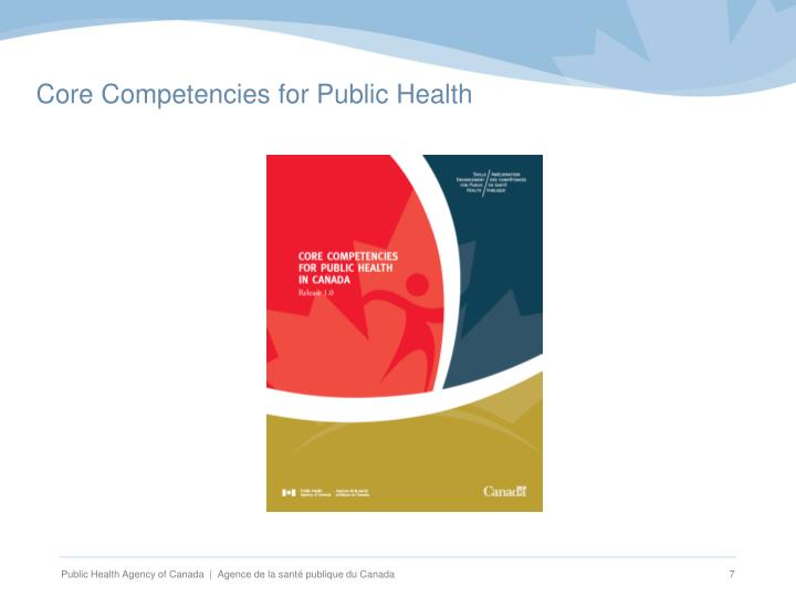Core Competencies for Public Health