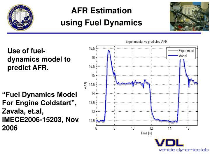 AFR Estimation
