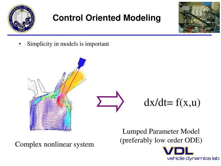 Control Oriented Modeling