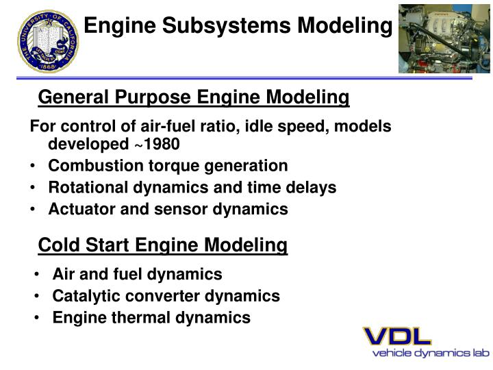 Engine Subsystems Modeling