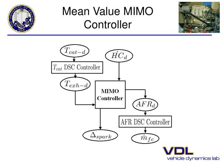 Mean Value MIMO Controller
