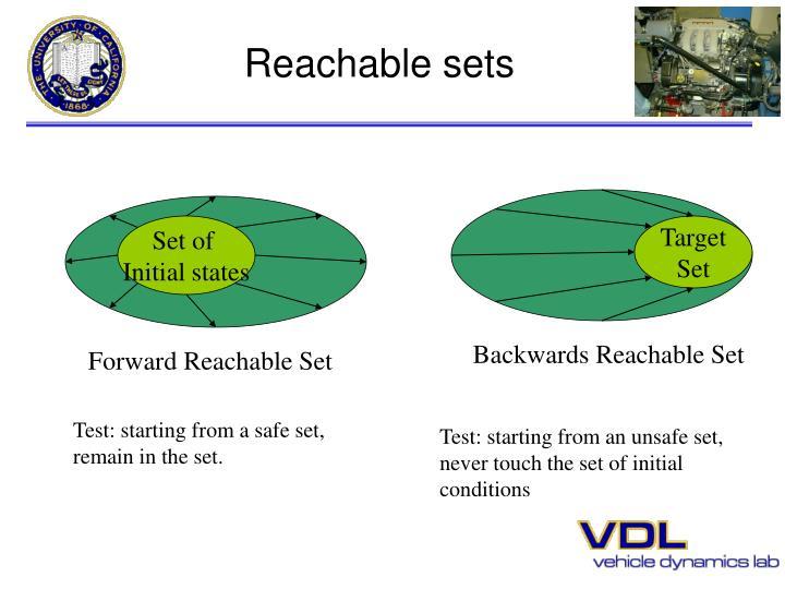 Reachable sets