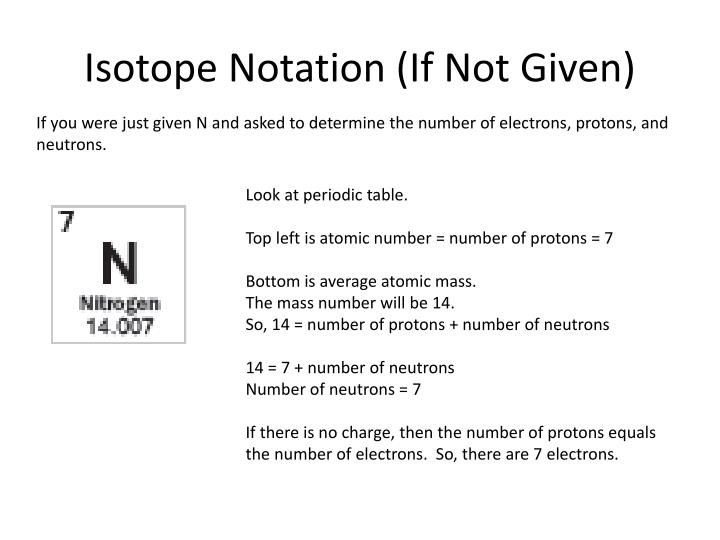 Isotope Notation (If Not Given)