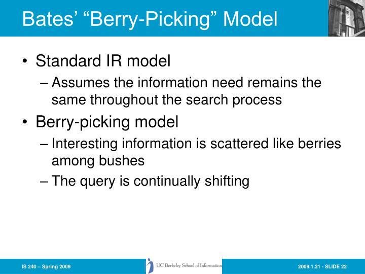 "Bates' ""Berry-Picking"" Model"
