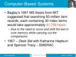 computer based systems