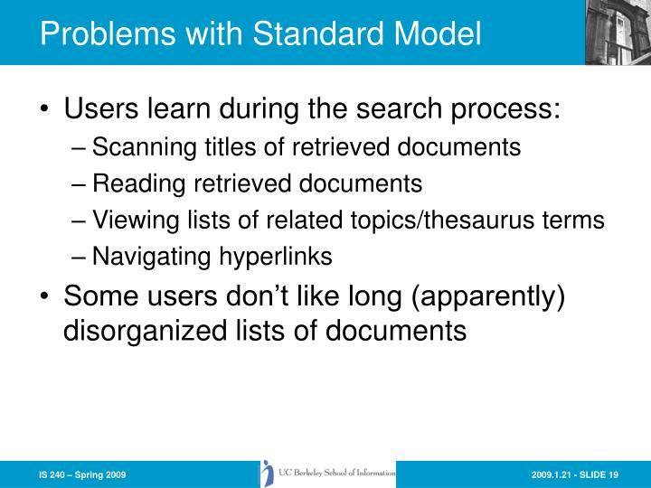 Problems with Standard Model