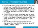 review information overload