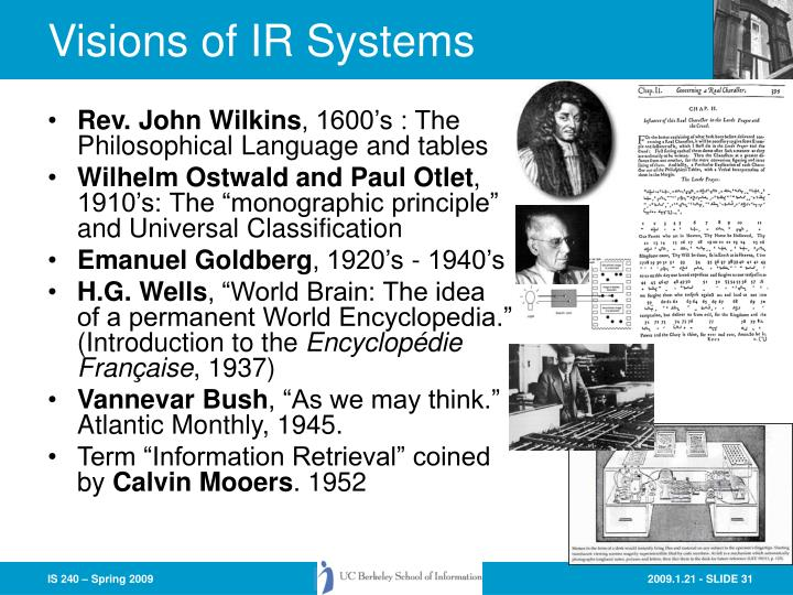 Visions of IR Systems