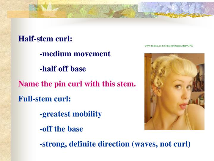 Half-stem curl: