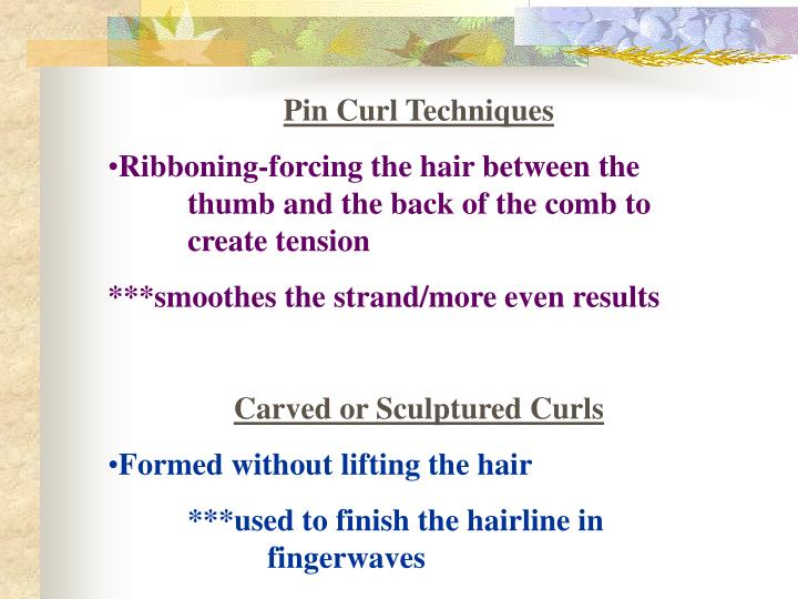 Pin Curl Techniques
