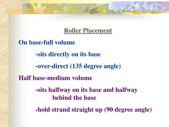 Roller Placement