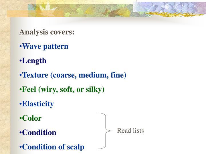 Analysis covers: