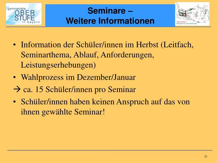 Seminare –