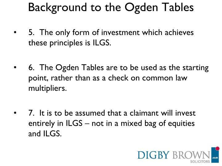 Background to the Ogden Tables