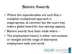 blamire awards