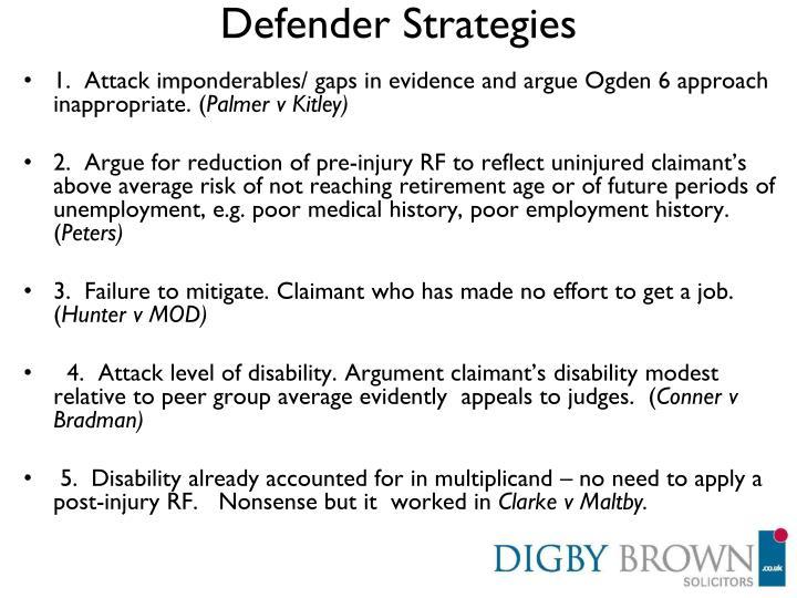 Defender Strategies