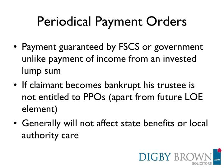 Periodical Payment Orders