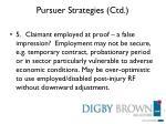 pursuer strategies ctd
