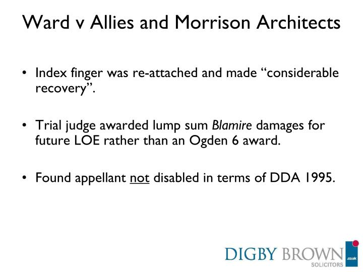 Ward v Allies and Morrison Architects