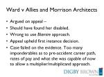 ward v allies and morrison architects1