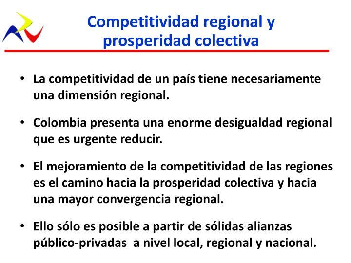 Competitividad regional y prosperidad colectiva