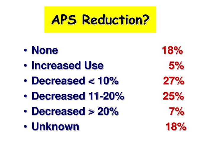 APS Reduction?