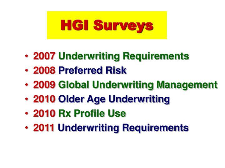 HGI Surveys