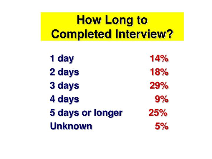 How Long to