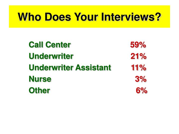 Who Does Your Interviews?
