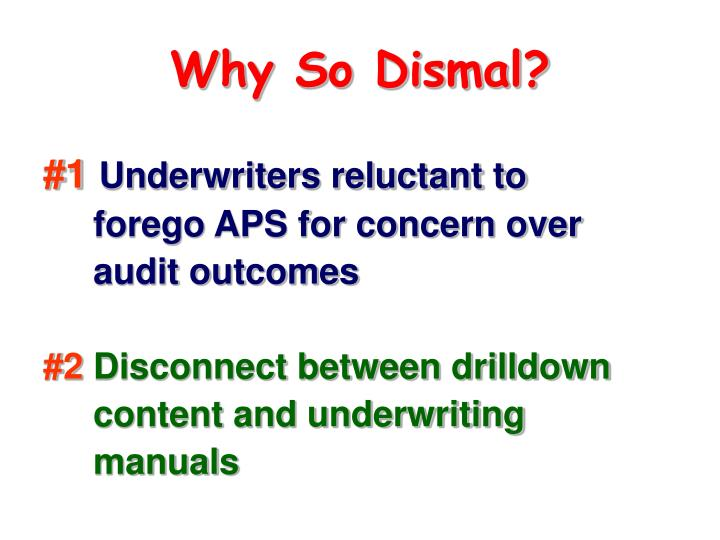 Why So Dismal?