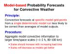 model based probability forecasts for convective weather
