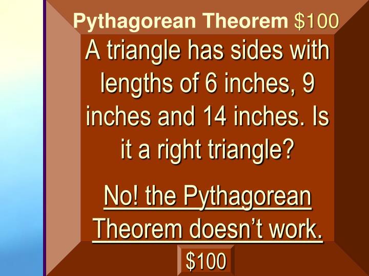 A triangle has