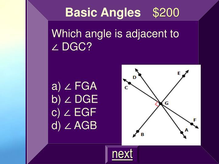 Basic Angles