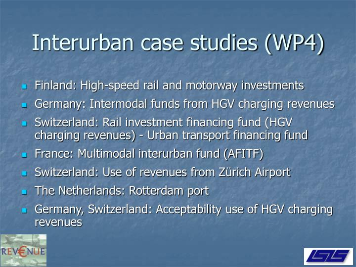 Interurban case studies (WP4)