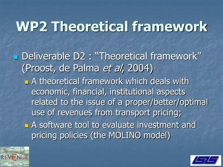 WP2 Theoretical framework
