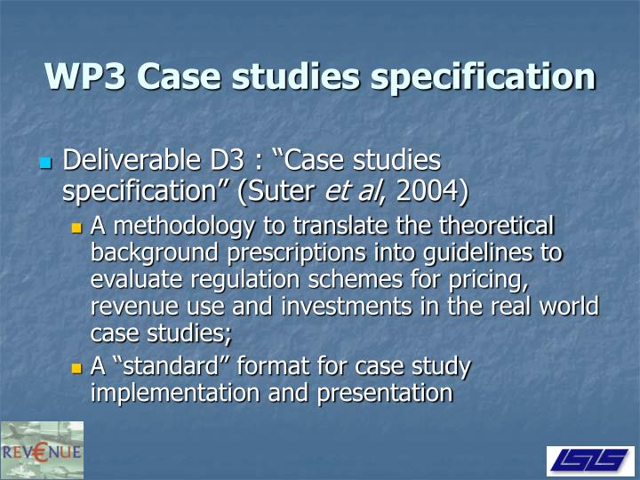 WP3 Case studies specification