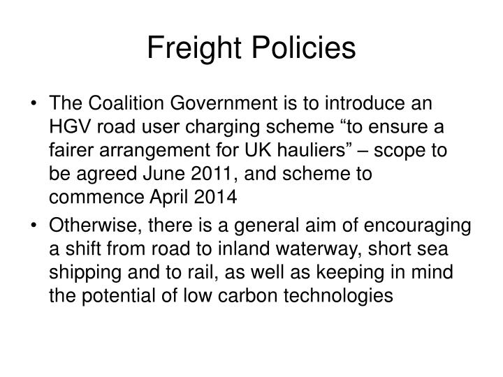 Freight Policies