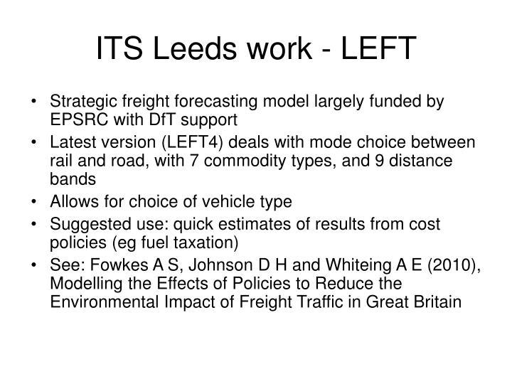 ITS Leeds work - LEFT