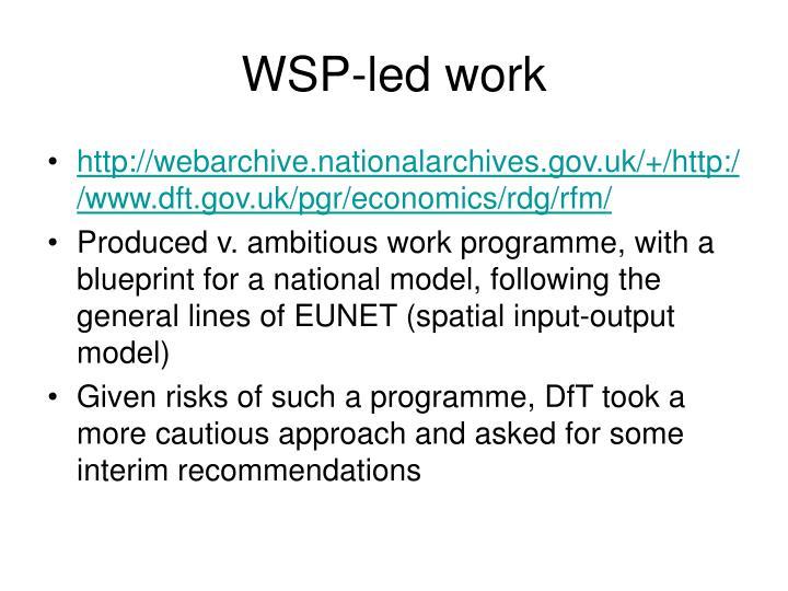WSP-led work