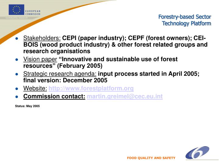 Forestry-based Sector