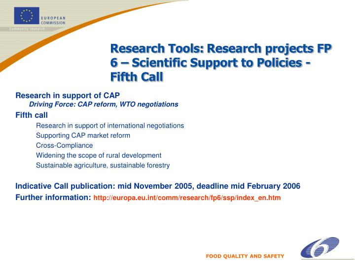 Research Tools: