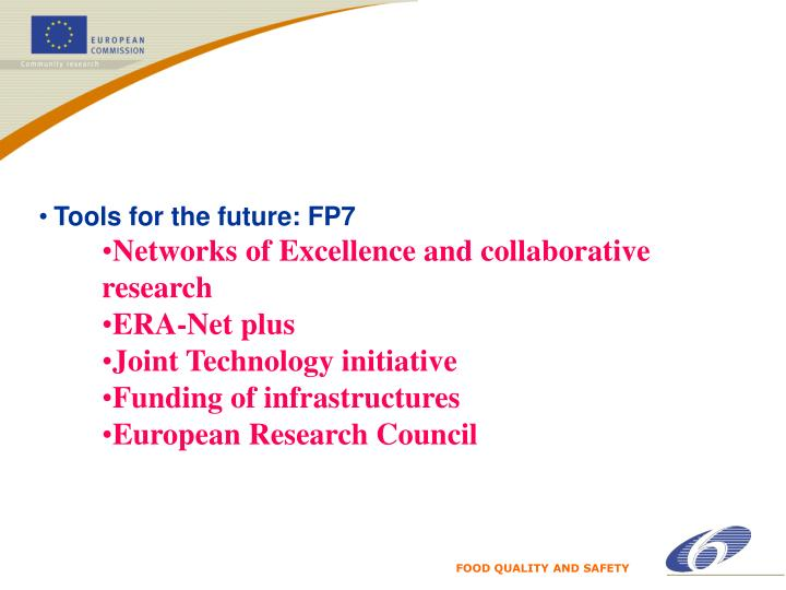 Tools for the future: FP7