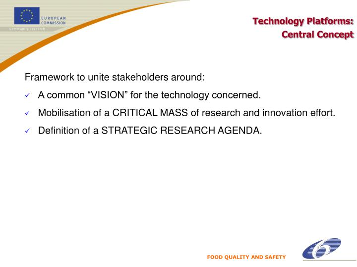 Technology Platforms: