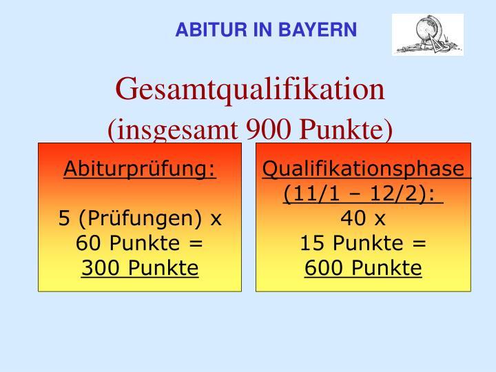 ABITUR IN BAYERN