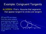 example congruent tangents